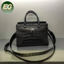 china crocodile black genuine leather