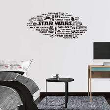 Jedi Personal Name Text Lightsabers Wall Art Sticker Vinyl Decal Star Wars