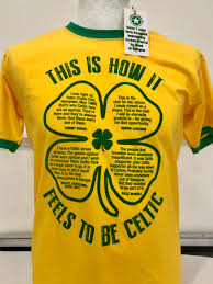 celtic quotes clover bottle green print on various colours of t
