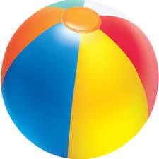 Realistic Beach Ball Sticker