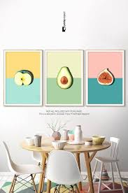 Avocado Print Tropical Fruit Kitchen Wall Decor Printable Etsy In 2020 Wall Decor Printables Kitchen Wall Decor Wall Decor