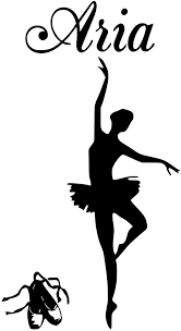 Amazon Com Huanyi Ballerina Aria Name Letters Childrens Room Vinyl Wall Art Sticker Decal Home Kitchen