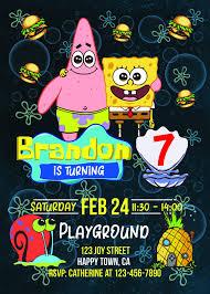 Spongebob Party Invitations Spongebob Party Supplies Www