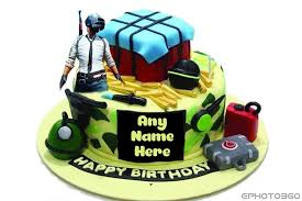 write name on pubg birthday cake images