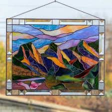 large stained glass window hangings for