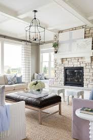 rustic stone fireplace with hearth