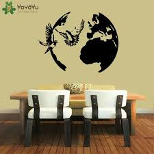 Globe Wall Decal Doves Flying Peace Vinyl Wall Stickers For Kids Rooms Nursery Special Home Decoration Accessories Symbol Sy284 Sticker For Kids Room Vinyl Wall Stickerswall Stickers For Kids Aliexpress