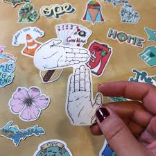 Michigan Hand Map Sticker Made In The Mitten