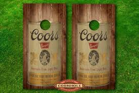 Vinyl Wrap Cornhole Boards Decal Vintage Coors Beer Cans Single Decal Ebay
