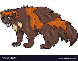 wolverine cartoon royalty free