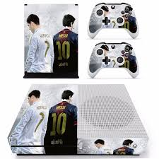 Cristiano Ronaldo And Messi Skin Sticker For Microsoft Xbox One S Console And 2 Controllers For Xbox One S Skin Sticker Consoleskins Co