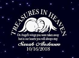Memory Of Decal On Angel S Wings You Were Taken Away Custom Name And Date 7 5 X 11 Window Decal White Walmart Com Walmart Com