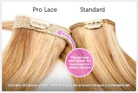 pro lace 20 inch clip in lace weft remy