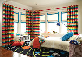 How To Make Your Bedroom Cozy For Transitional Kids And Chevron Curtains Colorful Curtains Kids Bedroom Roma Shades Space Rug Finefurnished Com