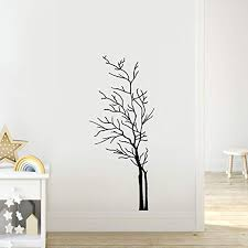 Ac223s Black 60 X 35 Stickerbrand Nature Vinyl Wall Art Bare Tree Branch Wall Decal Sticker Easy To Apply Removable Wall Stickers Murals