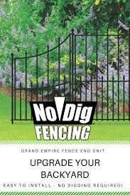 No Dig Grand Empire 3 Ft H X 2 23 Ft W Black Steel Pressed Point Decorative Fence Panel Lowes Com Decorative Fence Panels Metal Fence Panels Fence Panels