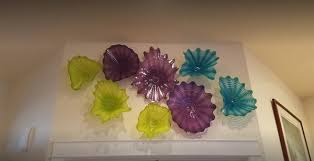 western style octopus blown glass plate