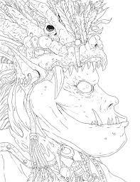 Afdrukbare Kleuren Pagina Goblin King Fantasy Art Digitale Etsy