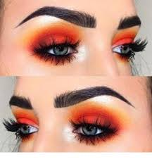 the makeup look with diffe colors