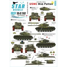 Star Decals 1167 Usmc M46 Patton Korean War 1950 53 M4 Decals 1 35 The Largest Choice With 1001hobbies Com