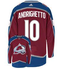 Sven Andrighetto Colorado Avalanche Adidas Authentic Home NHL Hockey Jersey