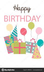 Happy Birthday Greeting Or Invitation Card Stock Vector C Vissay
