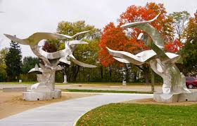 Richard Hunt Sculpture Gets a Name and Formal Ribbon Cutting Welcome to St.  Joe   Moody on the Market