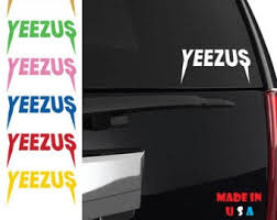 Yeezus Car Decal Etsy
