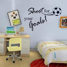Shoot For Your Goals Pvc Kids Room Sports Wall Decals Football English Elleseal