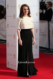 Sophie McShera Ivory And Black Evening Prom Celebrity Dress BAFTA 2015