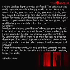 i heard you had fight wit quotes writings by kundan jaiswal