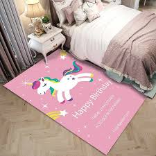 Cartoon Unicorn Pattern 3d Carpet Children S Bedroom Play Rugs Kids Room Decor Carpets Child Christmas Gift Baby Crawl Soft Mats Carpet Aliexpress