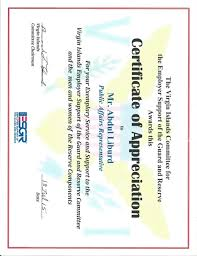ESGR - Cert of Appreciation STX - July 18, 2015