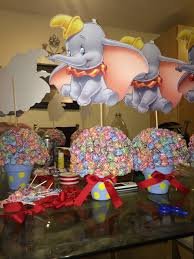 Dumbo Centerpieces For A Circus Theme 1st Bday