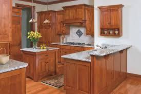 mission style birch kitchen craftsman