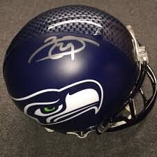 Nfl Auction Nfl Seahawks Earl Thomas Signed Seahawks Proline Helmet Bubbles On Helmet Stripe Decal