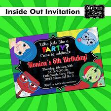 Inside Out Invitations Invitaciones De Intensamente 100 00
