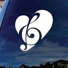 Love Music Symbol Car Window Vinyl Decal Sticker