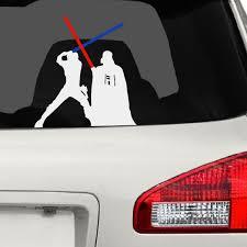 Darth Vader Luke Skywalker Fight Car Decal Disney Car Decals Car Decals Star Wars Decals Car