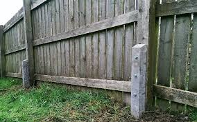 These Reinforced Concrete Spurs Are Used As An Effective Way Of Repairing Weak Fence Posts Without Replacing The Posts Disturbing The Fence Structure Ben S Garden Maintenance Br Fencing Landscaping