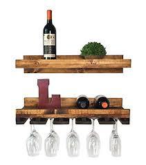 floating wine shelf glass rack