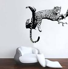 Animal Wild Zoo Leopards Cheetahs Tail Wall Decal Sticker Living Room Vinyl Wall Stickers For Kids Room Home Decor Qt004 Stickers Living Wall Decals Stickersliving Room Stickers Aliexpress