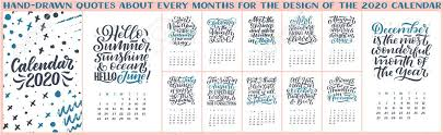 modern typography lettering compositions calendar