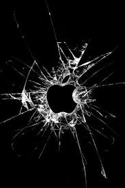 broken glass apple iphone wallpaper
