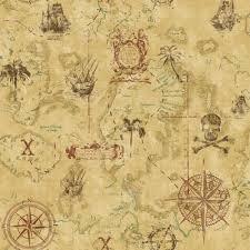 Ks2340 Cool Kids York Wallcoverings Ks2340 Cool Kids Pirate Map Wallpaper Goingdecor