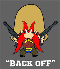 Yosemite Sam Back Off Vinyl Decal Sticker 4 Sizes