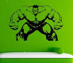 Hulk Vinyl Decal Hulk Wall Sticker Comics Wall Decals Wall Etsy
