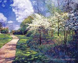 Dogwood Trees In Bloom By David Lloyd Glover Wall Art