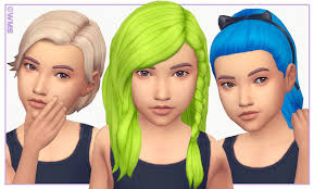 Wildlyminiaturesandwich All Kids Room Stuff Hairs Recoloured Download On Kids Hairstyles Sims 4 Cc Kids Clothing Kids Maxi