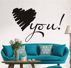 Love You Black Wall Paste Bed Room Decoration Self Adhesive Wall Decal Home Decor Living Room Decoration Quote Stickers For Walls Quote Wall Decals From Shouya2018 17 02 Dhgate Com